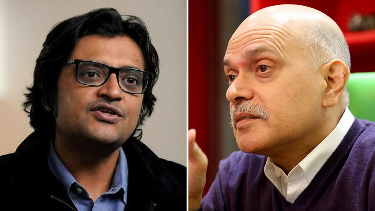 Arnab Goswami (left) and Raghav Bahl (right). (Photo: <b>Altered by The Quint</b>)