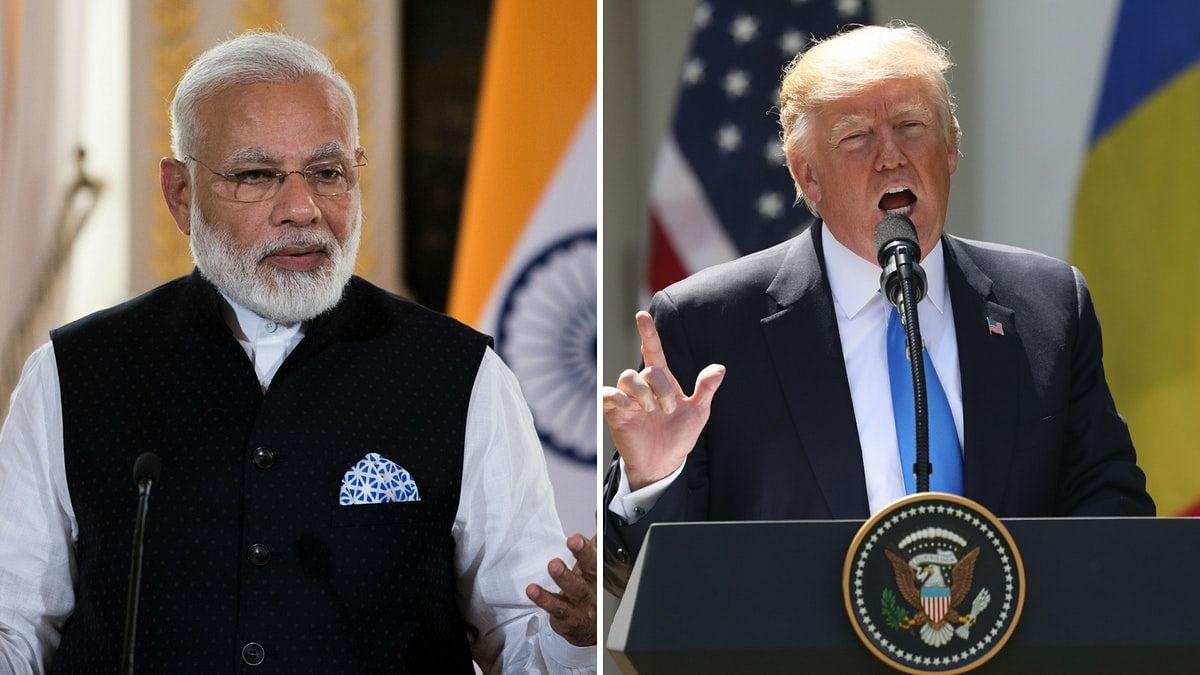 PM Narendra Modi (left) and US President Donald Trump (right).