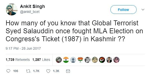 Fake News: Syed Salahuddin Wasn't Offered Congress Ticket in 1987
