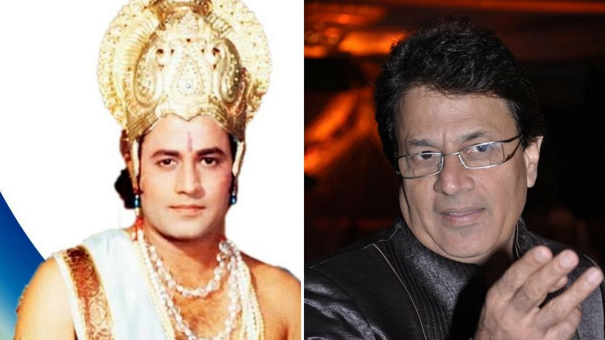 Arun Govil as Ram in 'Ramayana'. (Photo Altered by <b>The Quint</b>)