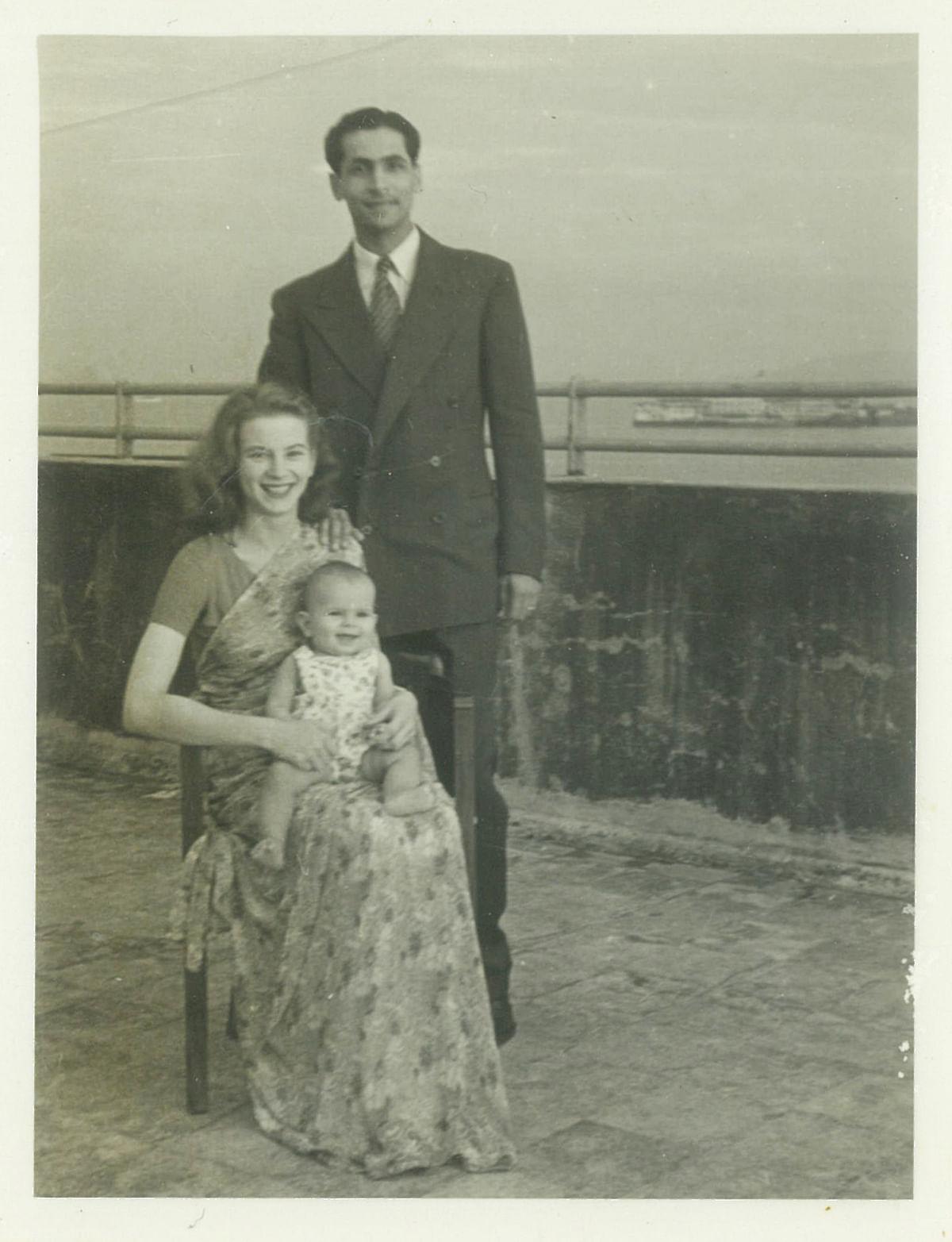 Kawas, Sylvia and their daughter Tannaz (c. 1955). (Photo courtesy: Juggernaut)
