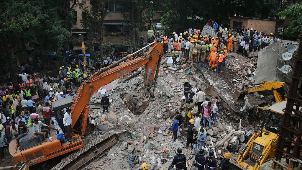 Several are feared trapped under the debris.