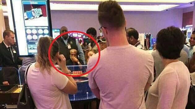 A photo of Rajnikanth in casino, tweeted by Subramanian Swamy.
