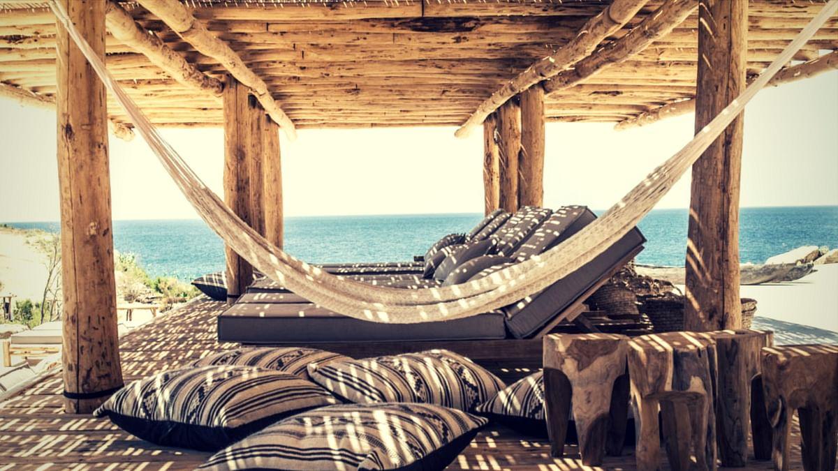 Scorpios, a gorgeous beach restaurant at Mykonos.