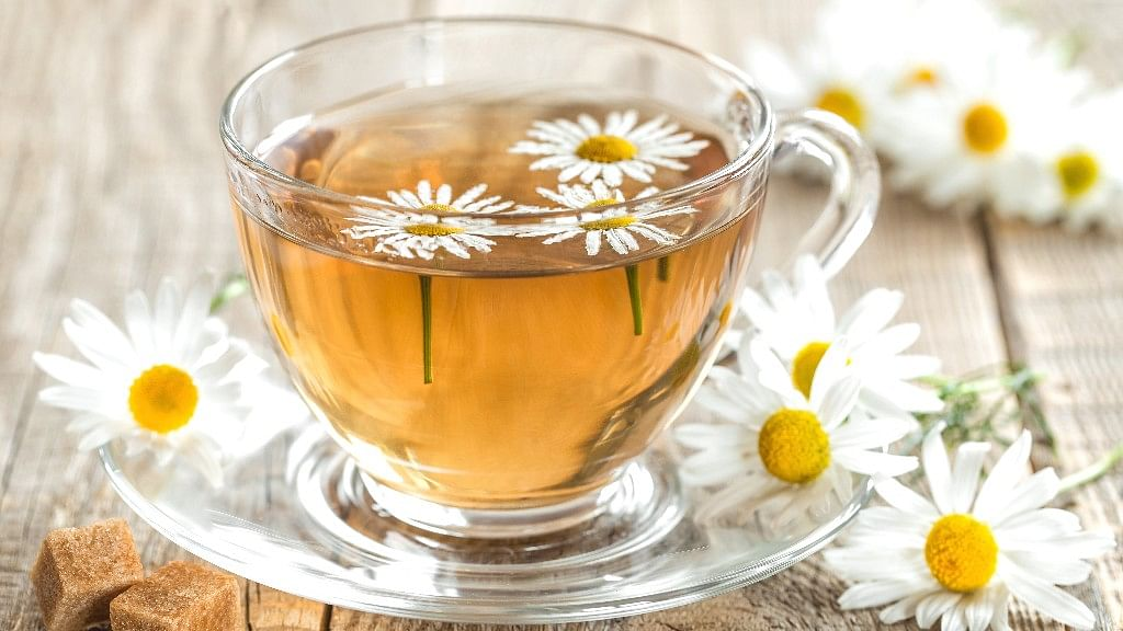 Chamomile tea is said to have soothing effect on tired, anxious mind.