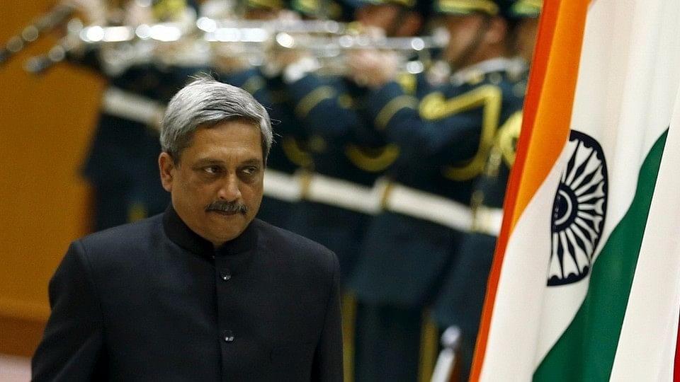 Defence Ministesr Manohar Parrikar.