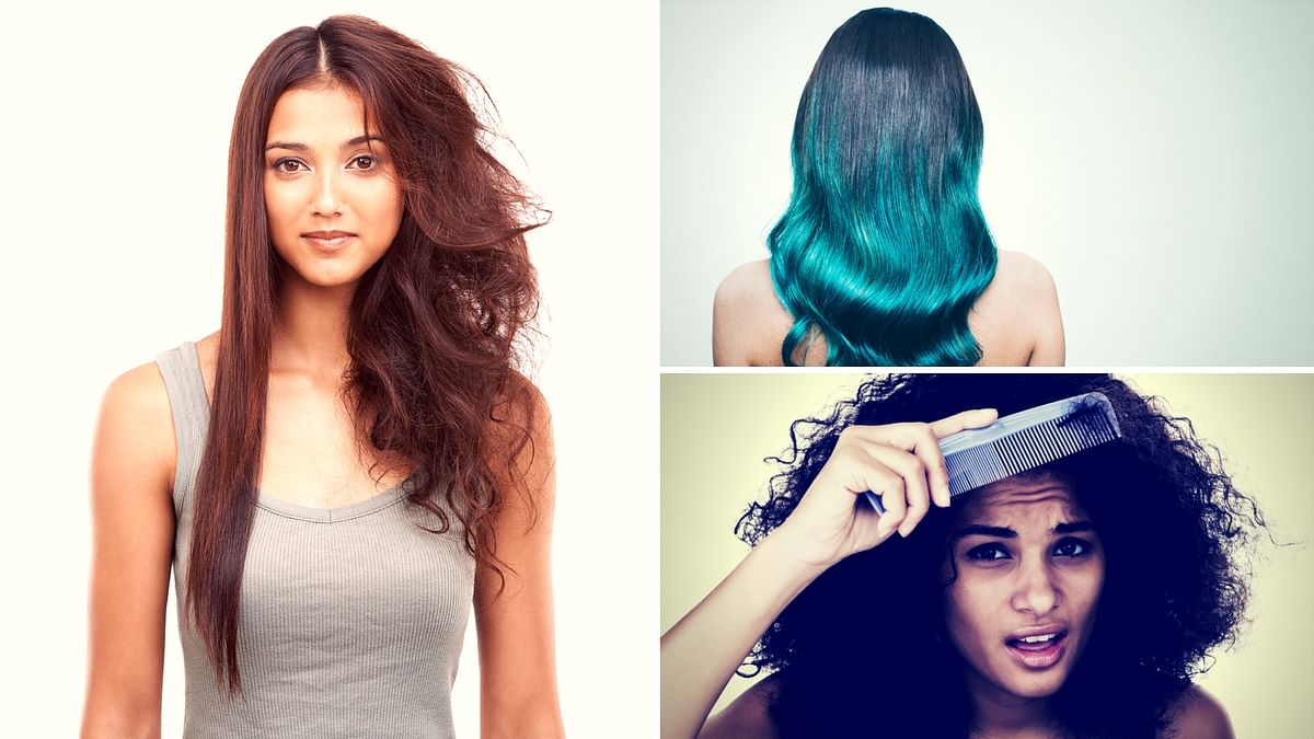 Whether your hair's frizzy from the rain or heavily treated, you can take care of it at home.
