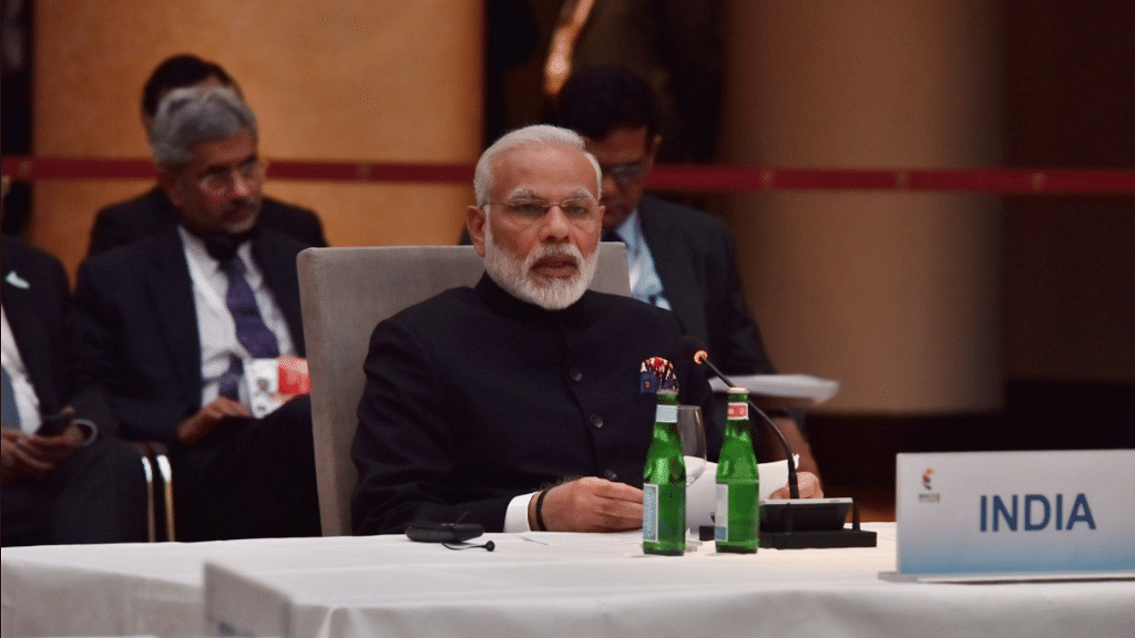Prime Minister Narendra Modi at the BRICS grouping meeting on sidelines of G20.