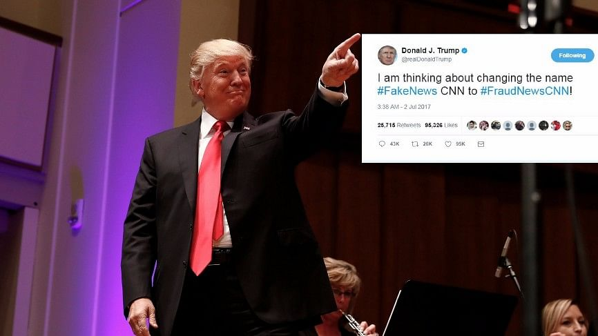 Trump Tweets Mock Video of Himself Tackling, Punching CNN Logo