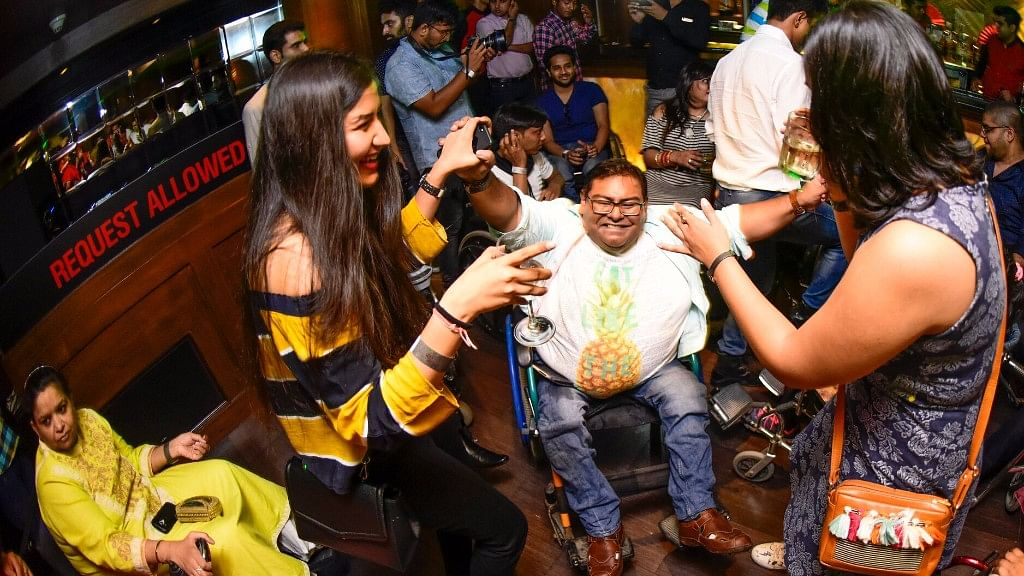 Partygoers at Inclov Social Spaces, a night out for persons with disabilities, at Kitty Su at The Lalit, New Delhi, on 25 June. (Photo Courtesy: Inclov)