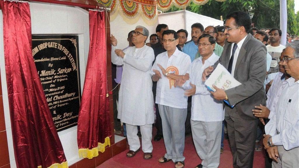 File photo of Tripura Chief Minister Manik Sarkar.