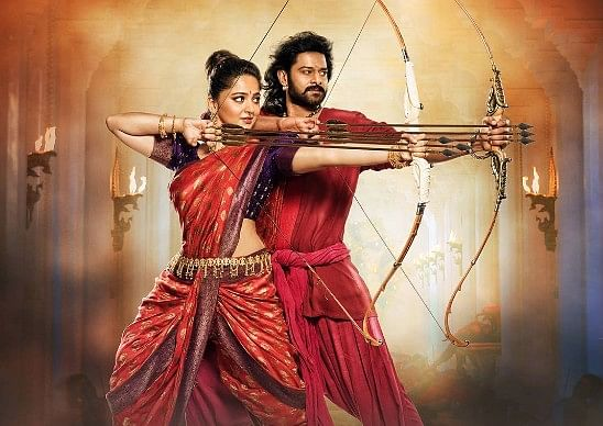 Anushka Shetty with Prabhas in <i>Baahubali 2.</i>