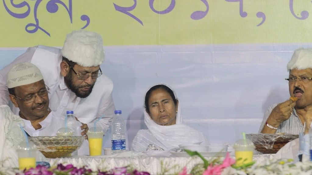 West Bengal Chief Minister Mamata Banerjee during an Iftar Party in Kolkata on 12 June, 2017.