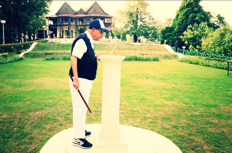 Former president Pranab Mukherjee in the Shimla retreat meant for President of India.