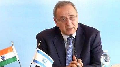 Yuval Rotem, DG, Israel Ministry of Foreign Affairs. (Photo: ANI Screengrab)