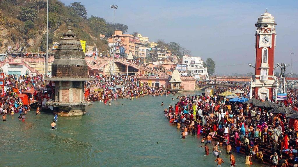 River Ganga in Haridwar.
