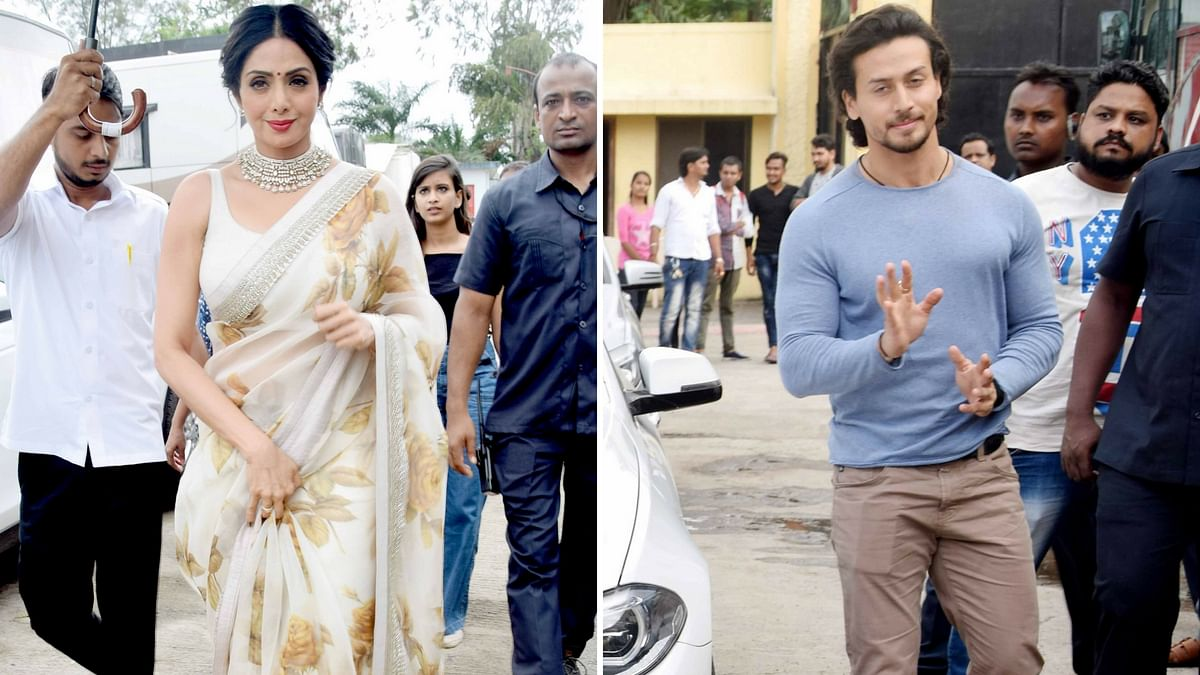 Sridevi and Tiger Shroff spotted.