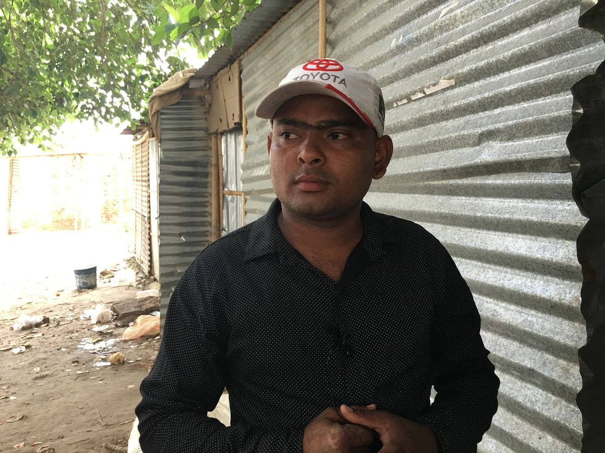 Imran is a shopkeeper, and responsible for renting out 35-odd rooms made of corrugated tin in a cluster of houses across Mahagun.