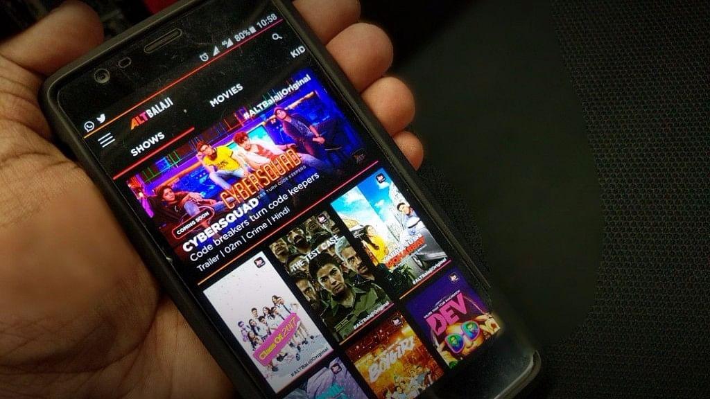 ALT Balaji app displayed on a smartphone.