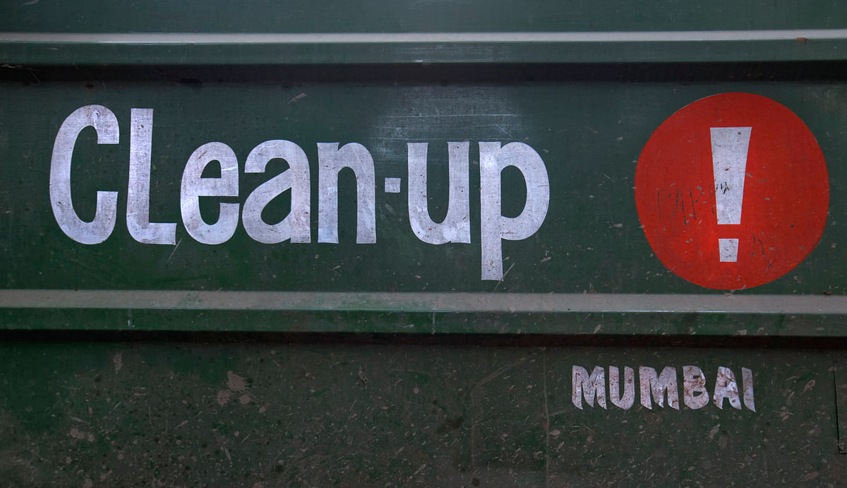 The Clean-up truck in Mumbai.