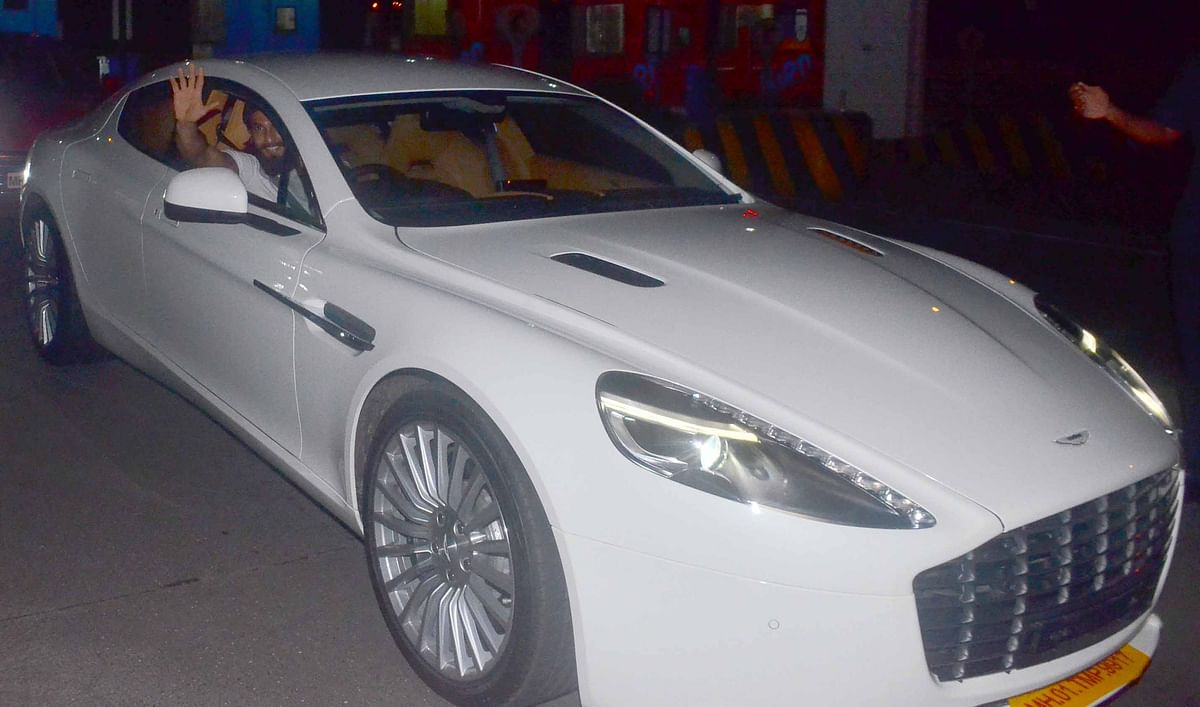 Ranveer takes his new baby out for a spin.
