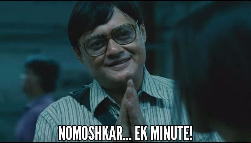 Saswata  Chatterjee as Bob Biswas in a still from <i>Kahaani</i>.