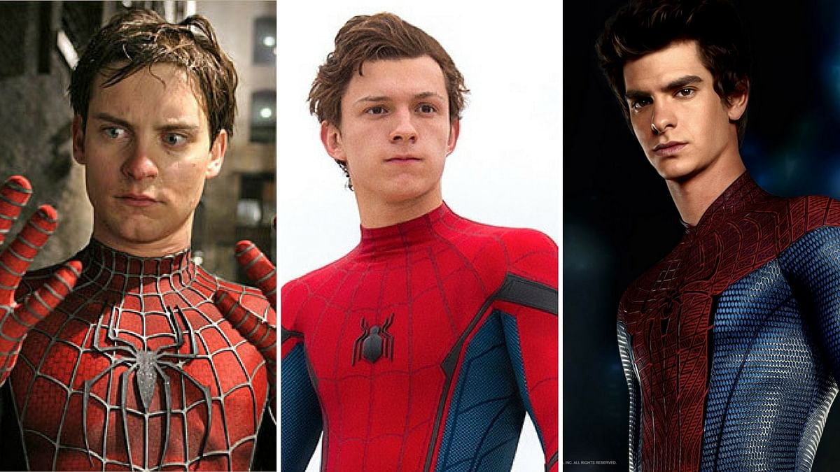 (From left to right): Tobey Maguire, Tom Holland and Andrew Garfield playing the role of Spider-Man.