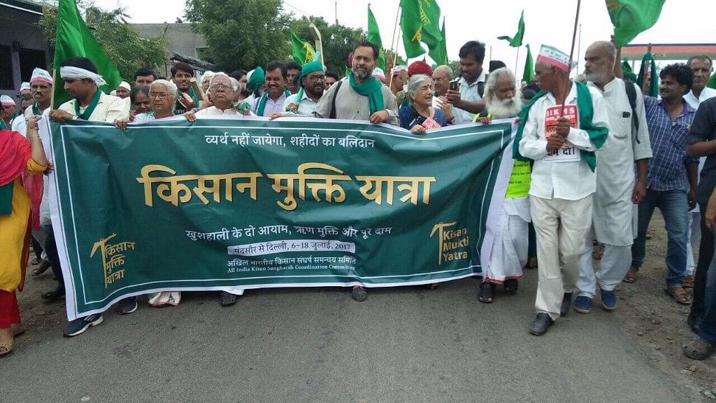 The Kisan Karz Mukti Yatra rally in Madhya Pradesh on Thursday