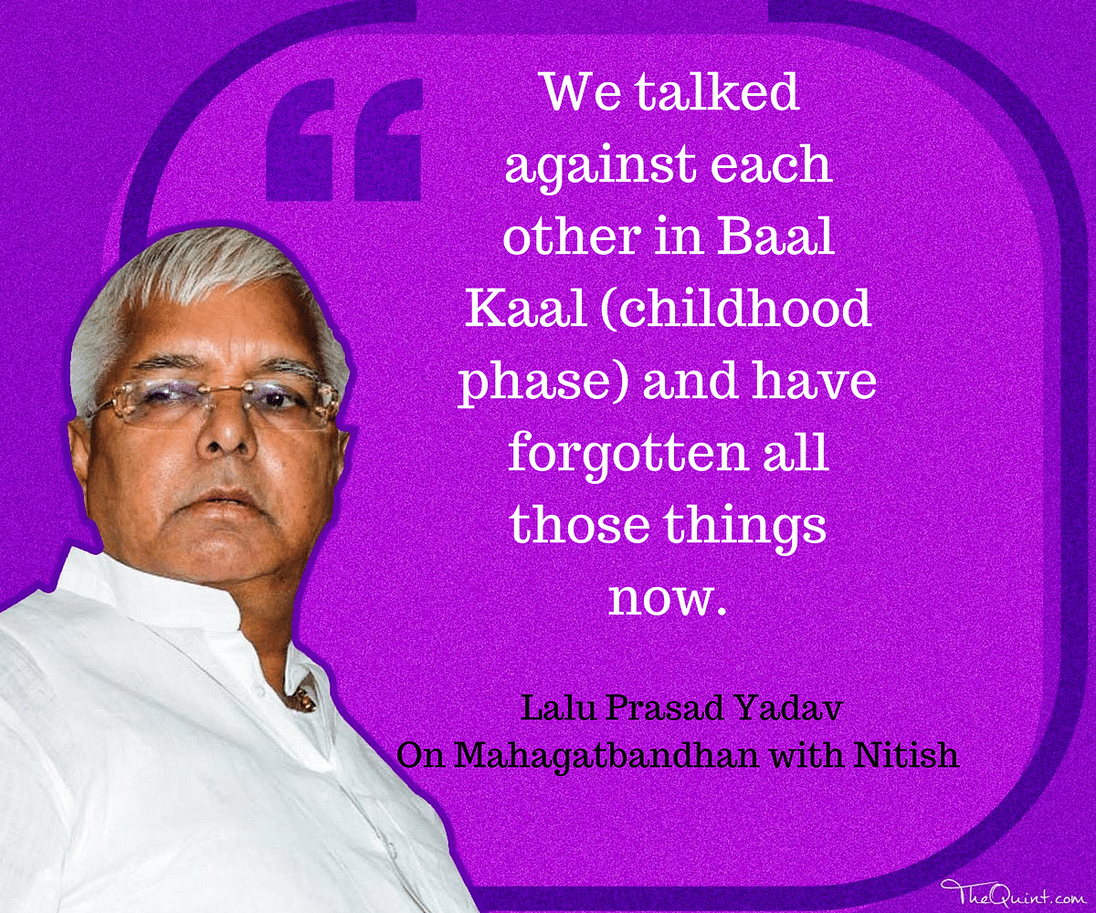 Timeline: Tracing Nitish & Lalu's Love-Hate Relationship