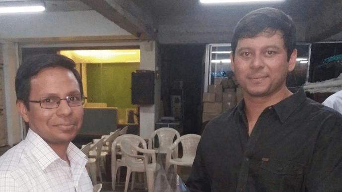 Rohit Tilak (right).
