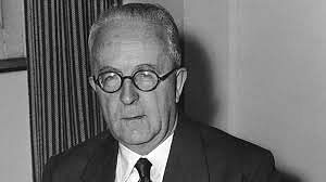 Sir Cyril Radcliffe, the man who drew the Radcliffe line dividing India and Pakistan.