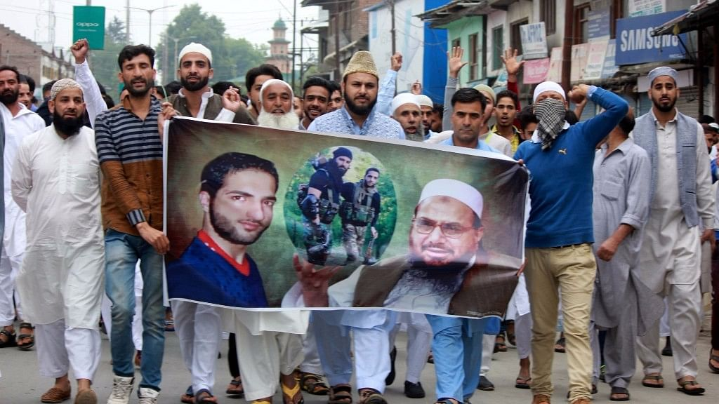 Clashes broke out between security forces and protesters after the prayers on the occasion of Eid ul Fitr in Anantnag, on 26 June 2017.