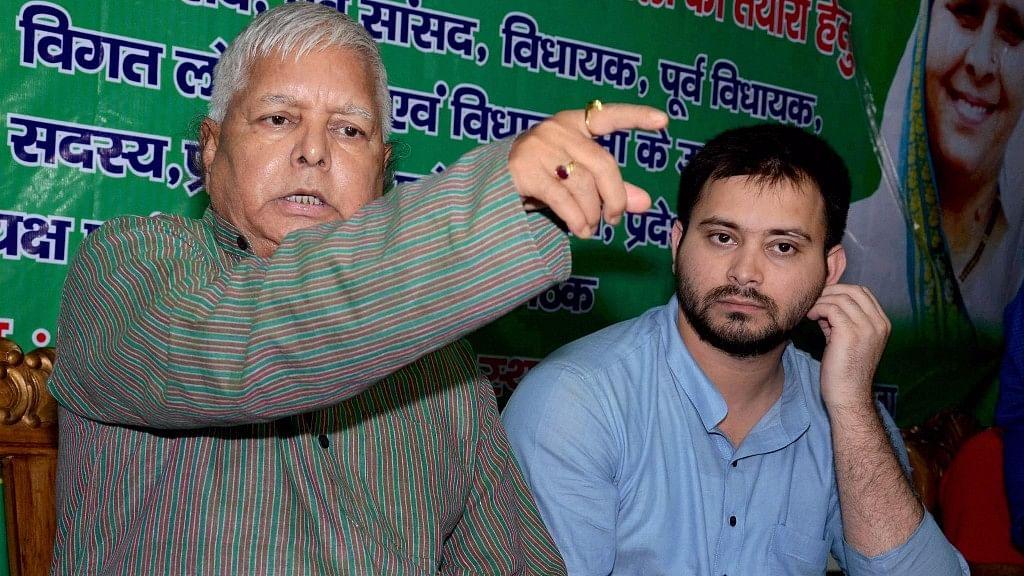 File photo of Lalu Yadav and Tejashwi Yadav.