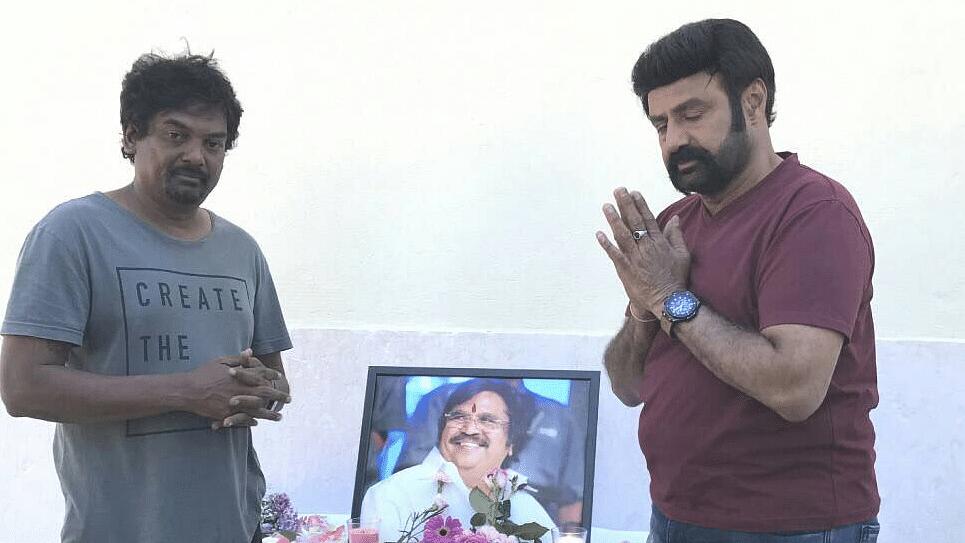 Director Puri Jagannadh with Telugu star Balakrishna.