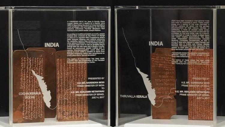 PM Narendra Modi presented Israeli PM Benjamin Netanyahu replicas of two sets of relics from Kerala.