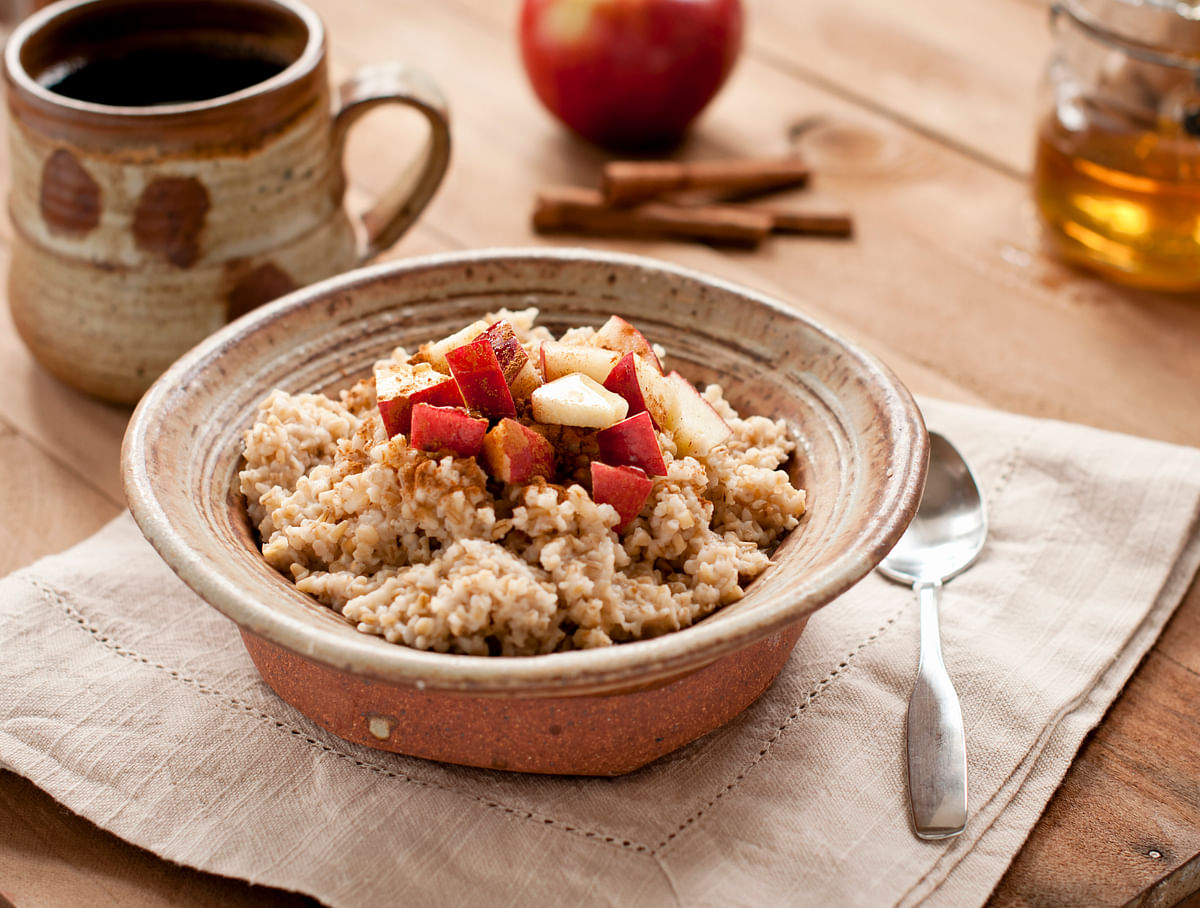 Oats in the morning help keep blood sugar levels under control the rest of the day.
