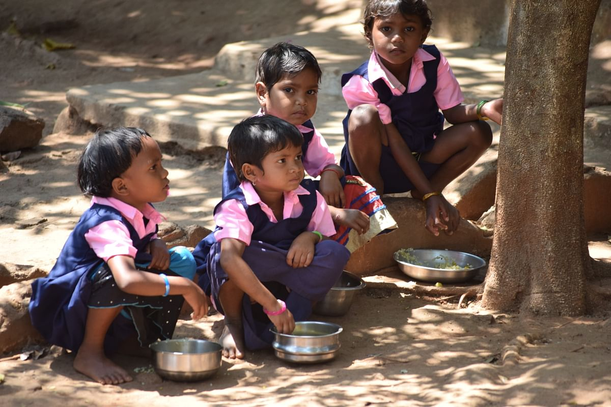 Most of the tribal girls drop out                      of school before completing high school.