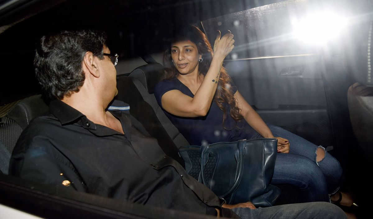 Actress Tabu was spotted at the <i>Mom </i>screening.
