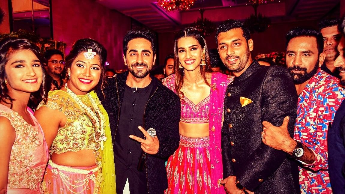 Ayushman and Kriti with the newlyweds.