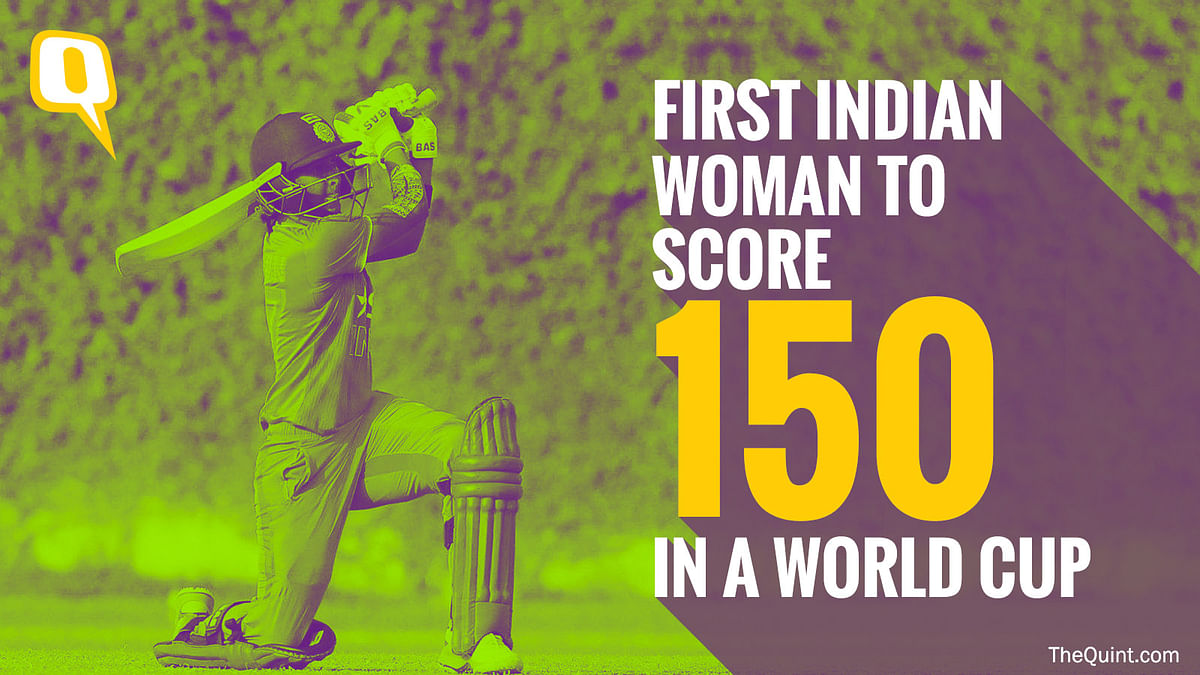 Harmanpreet Kaur became the first Indian woman to score 150 in a Women's World Cup match.