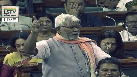 Hukumdev Yadav. (Photo Courtesy: Lok Sabha TV screenshot)