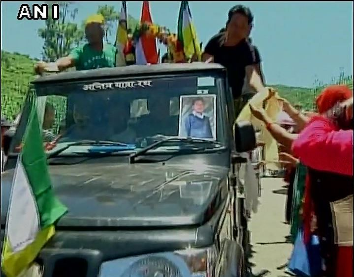 Gorkhaland supporters protest the death of Ashish Tamang.