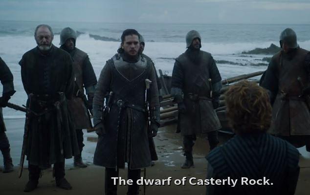 Jon Snow lands on Dragonstone.