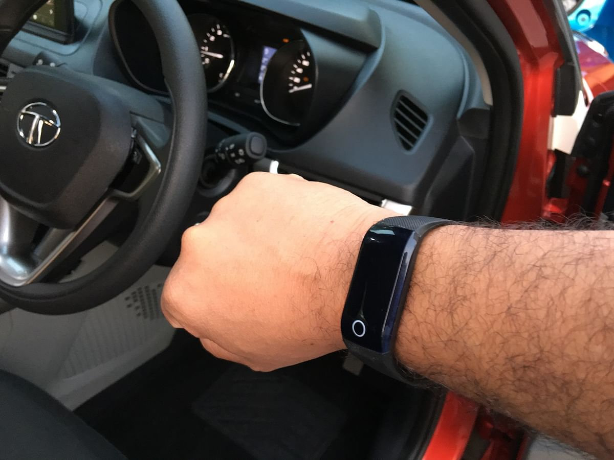 The Tata Nexon comes with a wearable smart key, which allows for keyless entry along with push-button ignition.