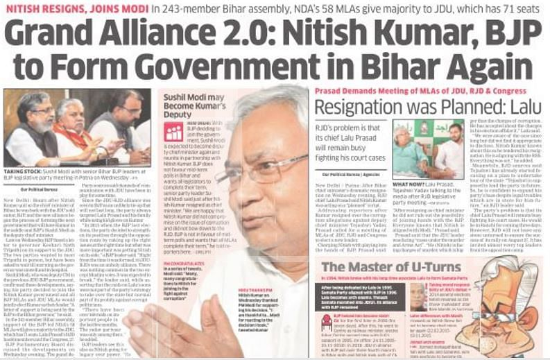 BJP Wins, But Nitish Has Much to Lose: Editorials on Bihar Crisis