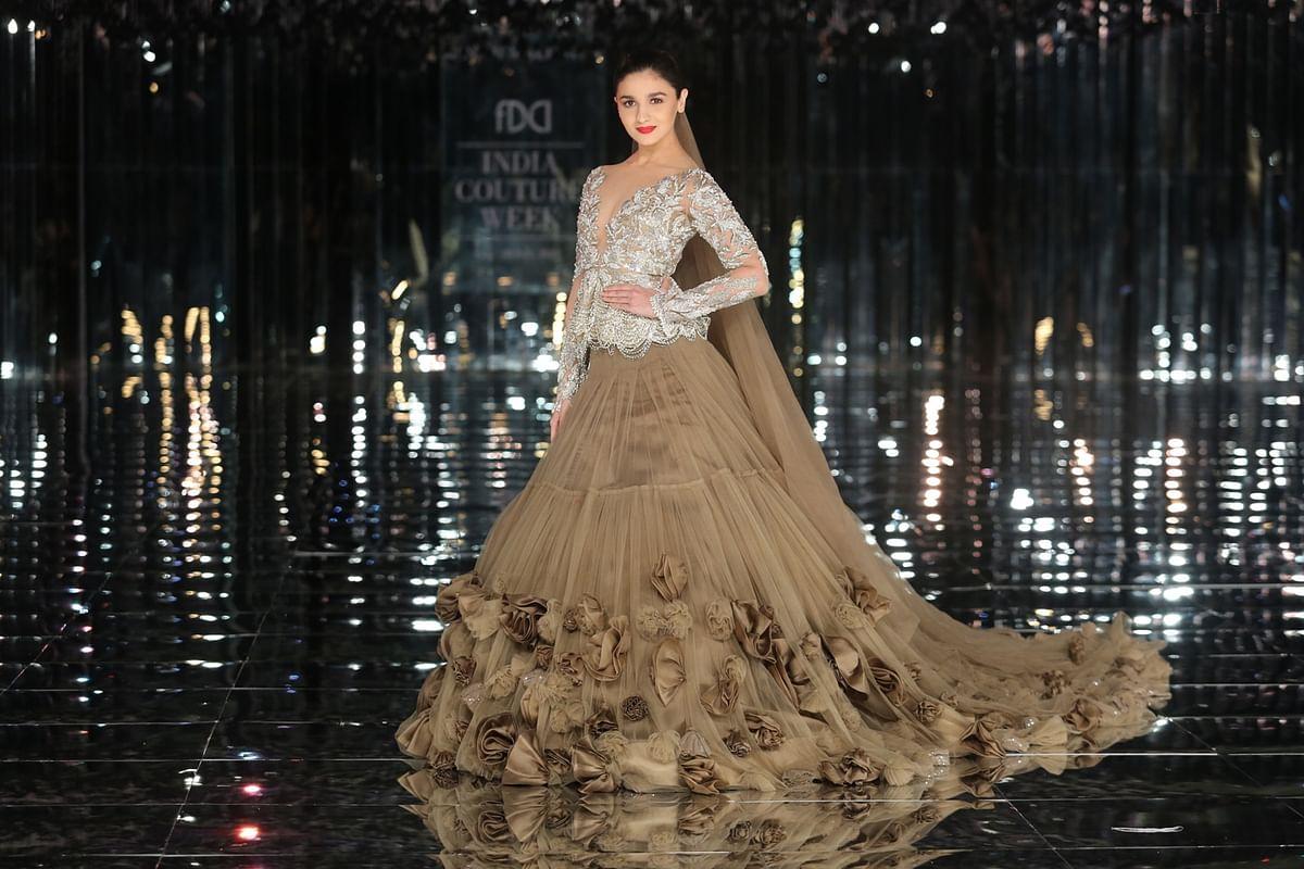 Alia, Ranveer Walk for Manish Malhotra in a Muted 'Sensual Affair'