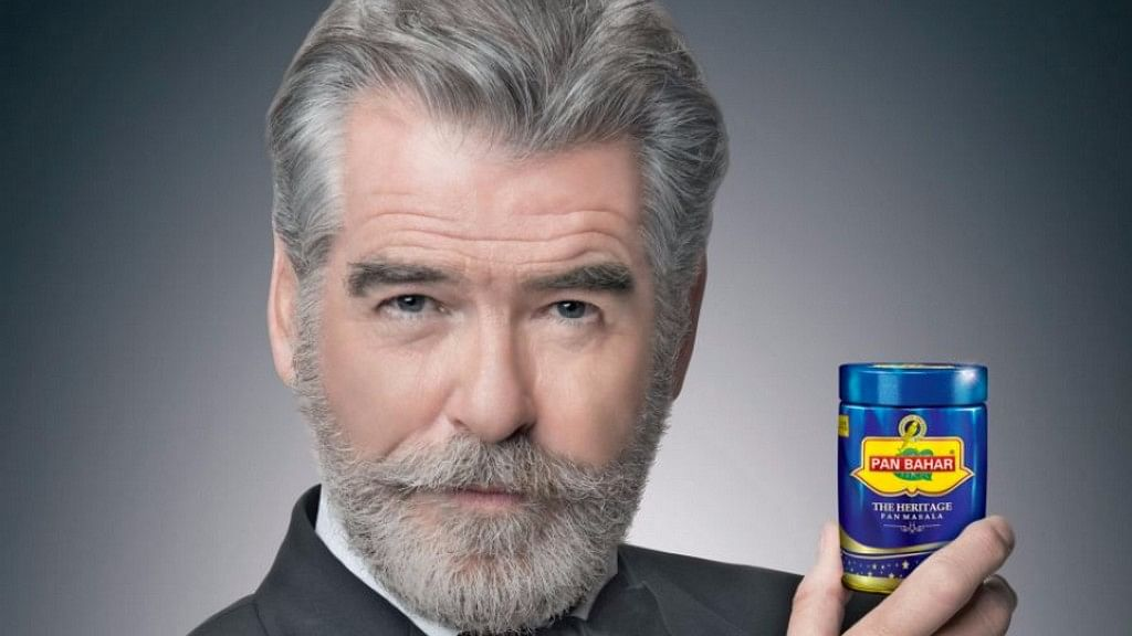 Pierce Brosnan was the face of a pan masala campaign.