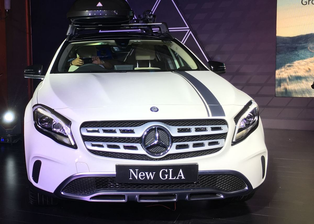 New LED headlamps, grille and bumper for the Mercedes GLA.