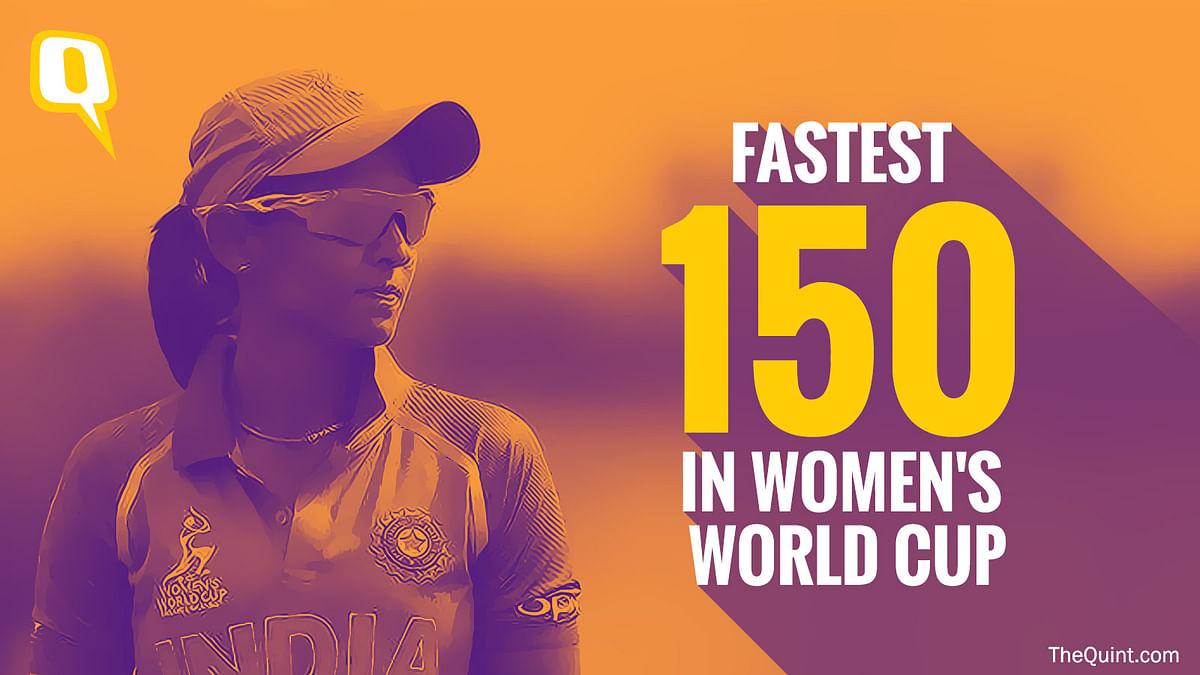 Harmanpreet Kaur scored the fastest 150 in the Women's World Cup.