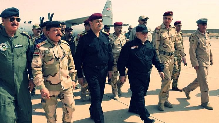 Iraqi prime minister Abadi arrives in Mosul. (Photo: Reuters)
